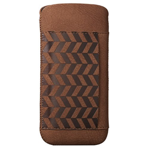 Best Price Ozaki OC551LA Nature Leather Pouch for iPhone 5 - 1 Pack - Carrier Packaging - Lakes