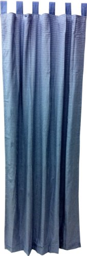 Tadpoles Double Sided Tab Top Single Curtain Panels, Navy, 84""