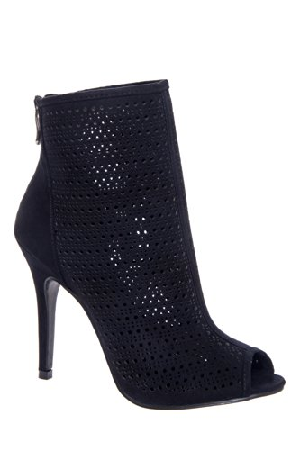 Chinese Laundry Jupiter High Heel Open-Toe Bootie - Black