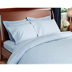 Pinzon 160-Gram Solid Flannel Full/Queen Duvet, Light Blue
