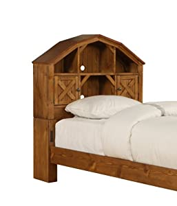 Amazon.com - Powell Dakota Twin-Size Dark-Rustic-Pine Barn ...
