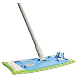 Quickie Microfiber Hardwood Floor Mop, 48 Inch Handle, Green, Each (062)