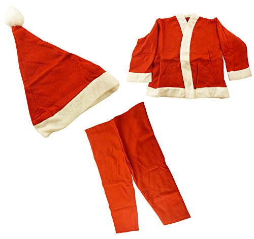 Benross Boys Santa Suit Hat,coat,belt,trousers Age 2/3 (b3)