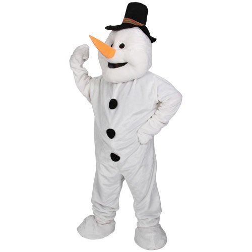 THE SNOWMAN FANCY DRESS COSTUME, CHRISTMAS EXTRA LARGE GIANT MASCOT WILL FIT SIZE SMALL - XXL FITS UPTO 6FT 4 IDEAL XMAS NOVELTY