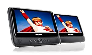 Nextbase NB49AM / SDV49AM Twin Screen 9-inch Portable DVD Player with Car Kit and Integrated Battery