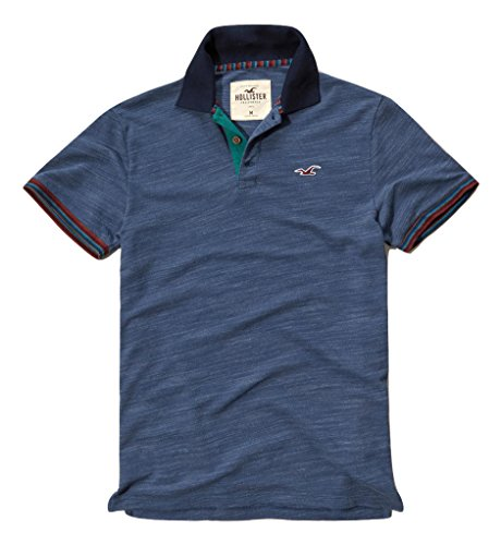 hollister-mens-patterned-tipped-pique-polo-shirt-tee-size-l-blue-623333282