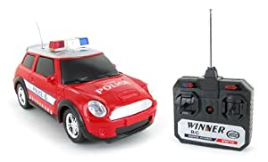 Top Speed Police Mini Cooper Electric Remote Control RTR RC Car (Color May Vary)