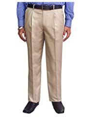 Kinger Men's Pleat Front Trousers