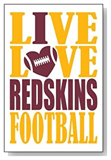 Live Love I Heart Redskins Football lined journal - any occasion gift idea for Washington Redskins fans from WriteDrawDesign.com