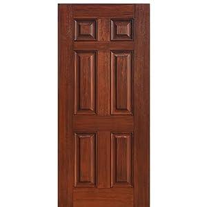 Mahogany Fiberglass Door 6 Panel Glasscraft