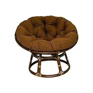 Rattan Papasan Chair With Fabric Cushion Kitchen Dining