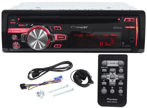 Pioneer Deh-X8600Bh Single Din Cd/Mp3 Car Stereo Receiver With Bluetooth, Hd Radio, Siri Eyes Free, Pandora, Android/Iphone/Ipod Compatible, Usb/Aux Inputs And Wireless Remote Control