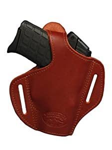 Barsony Burgundy Leather Pancake Holster for Taurus Slim 708 709 740 right