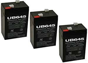 6V 4.5AH SLA BATTERY REPLACES CP640, PEG PEREGO -3 PACK