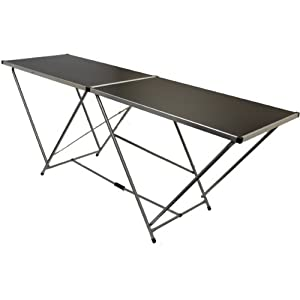 Hartleys 2m Aluminium Folding Table - Black - Event/Garden Table by Hartleys