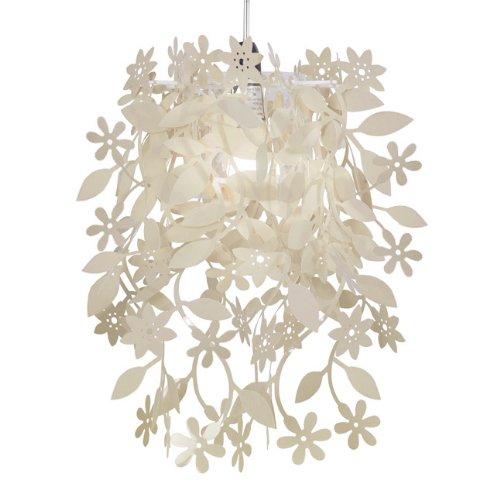 Schön Hängeleuchte Blumenmuster Blüten Motiv Hängelampe, Cremefarbig, Deckenlampe Lampenschirm