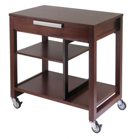 Buy Low Price Comfortable Antique Walnut Computer Cart – Winsome 94032 (B005PZ6YHI)