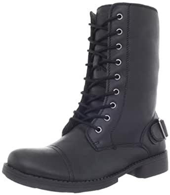 Skechers Women's Leverages-Pull Rank Lace-Up Boot,Black,5.5 M US
