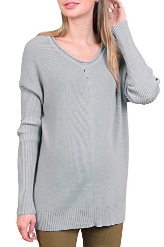 Sweet Mommy Organic Cotton Knit Pullover Sweater With Petit Dolman Sleeve Grm front-188054