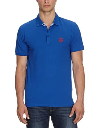 SELECTED HOMME Herren T-Shirt Aro ss embroidery polo s NOOS, Gr. 3X-Large, Blau
