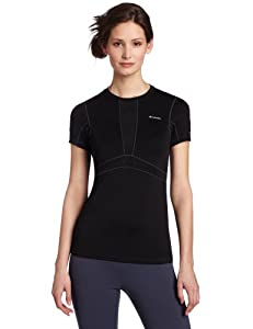 Columbia Women's Base Layer Lightweight Short Sleeve Top (X-Small, Black)