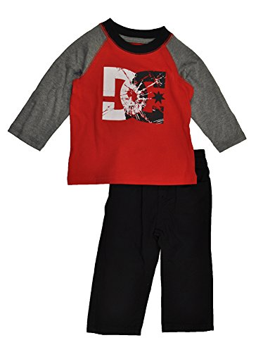 Dc Shoes Infant Boys Red Logo Top 2Pc Denim Pant Set (18M) front-1003615