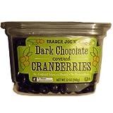 Trader Joe's Dark Chocolate Covered Cranberries, 12 oz box