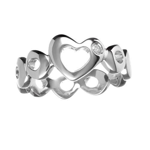 0.01 Carat Diamond Ring in Sterling Silver
