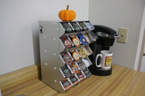 K-cup Storage Display Rack for Keurig K-cups 6 Rows High 2 Wide Capacity 48 K-cups