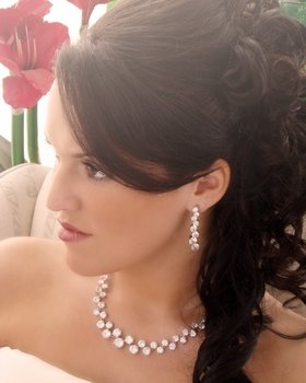 Couture Cubic Zirconia Rhinestone Crystal Bridal