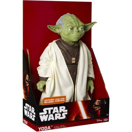Star Wars Classic Giant Sized Yoda / Straight out of the Star Wars universe comes the Jedi Master Yoda in scale with the JAKKS BIG FIGS Massive action figure line