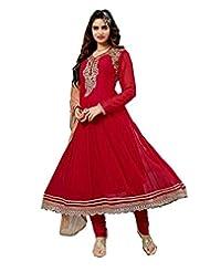 DivyaEmporio Women's Anarkali Salwar Kameez Suit Dupatta Unstitched Dress Material (Free Size) - B00RXEQS3Y
