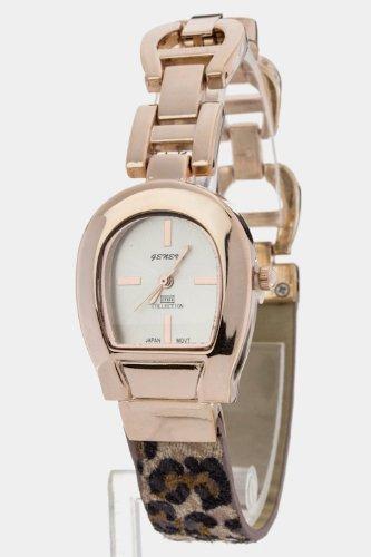 Chic Chelsea Leopard Print Bracelet Watch (Rosegold)