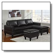 Reversible Sectional Couch with Ottoman