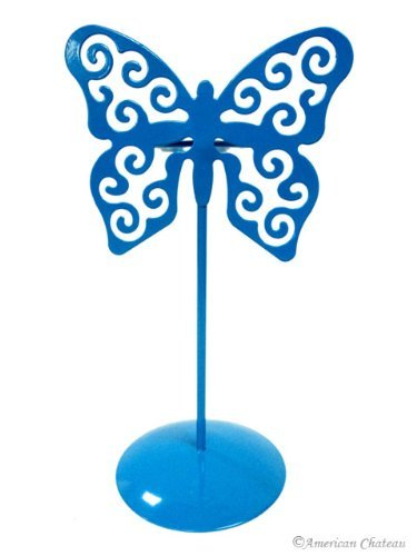 Cyan Butterfly Votive Candle Holders With Glass Metal Holder Table Top Candles