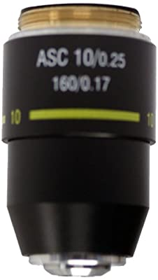 National Optical 710-160ASC 10X DIN Super High Contrast Objective Lens, N.A. 0.25, For 160 and 210 Microscopes from National Optical & Scientific Instruments Inc