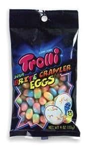 Trolli Sour Brite Crawler Eggs Gummi Candy 4oz Bag, Pack of 4
