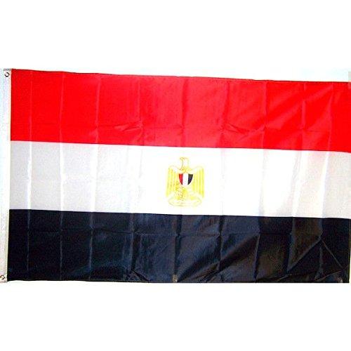 国旗 エジプト アラブ 共和国 60cmx90cm 大フラッグ【ノーブランド品】