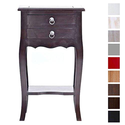 CLP-Beistell-Tisch-LINDA-Mahagoni-Holz-bis-zu-8-Farben-whlbar-Kolonialstil-auch-als-Nachttisch-Telefontisch-Pflanzentisch-verwendbar-braun