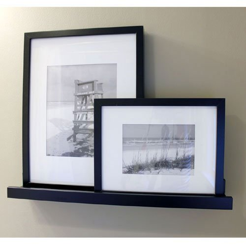 Modern Black Floating Ledge for Photos, Pictures and Frames 21 5/8