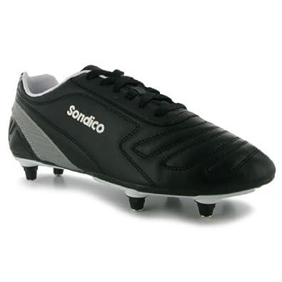 Sondico Mens Gents Strike SG Football Sports Shoes Boots Blk New Black/White 11