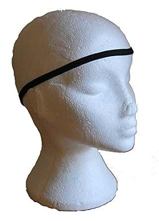 Mens Pack Of 4 Black Thin Hair Elastic Football Sports Stretchy Headbands