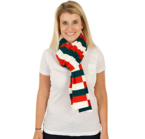 Candy Cane Scarf in Red-Green-White