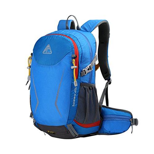 sac à bandoulière extérieur / sac multifonctions équitation / randonnée sport sac à dos / sac de Voyage de loisirs-bleu 25L