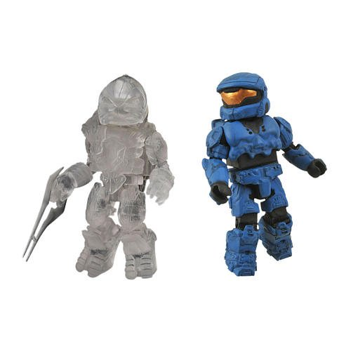 Picture of Diamond Select Halo Minimates Exclusive Series 2 Mini Figure 2Pack Spartan ODST (Blue) Arbiter (Active Camouflage) (B0052ULVXS) (Halo Action Figures)