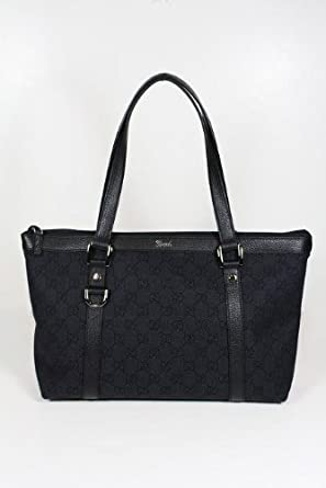 Gucci Handbags Black Fabric and Leather 268640