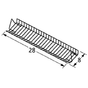 Music City Metals 02060 Porcelain Steel Wire Warming Rack Replacement for Gas Grill Model Charbroil 4639284