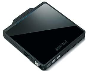 BUFFALO USB2.0用 ポータブルDVDドライブ 書き込みソフト付属 Wケーブル収納 スリムタイプ ブラック DVSM-PC58U2V/N