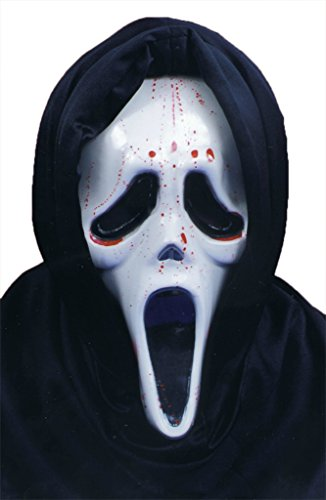 Scream Mask W Blood And Pump Scary Horror Latex Adult Halloween Costume