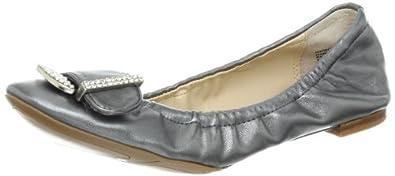 Nine West Women's Wontyou Ballet Flat,Dark Silver Synthetic,8.5 M US